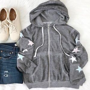 Wildfox starlight Regan zip hoodie